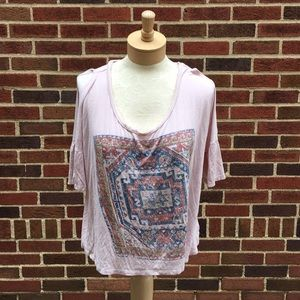 Project Social Tee cold shoulder tee size XL